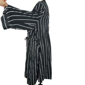 torrid Dresses - TORRID Black Stripe Challis Shirt Dress